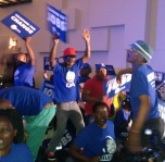 BLUE SEA:  DA supporters came in the 100s.