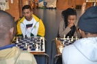FOCUSSED LIKE A LOCUST:  Evasan Chettiar (left) and Seadimo Tlale, are two Witsies chosen to represent the country in a team of four South Africans at the World University Chess Championships to be held in Katowice Poland. Photo: Lameez Omarjee