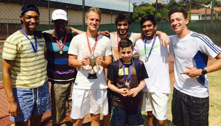 WINNERS:  The men's final was a success, teammates came through to support players and proud winners were awarded medals. Photo: Provided